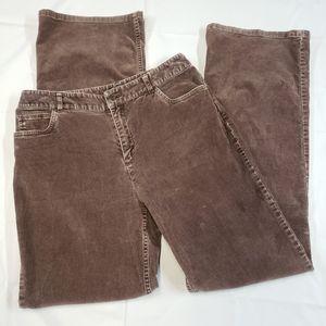 J. Jill Corduroy Bootcut Pants Sz 6 Stretch Brown